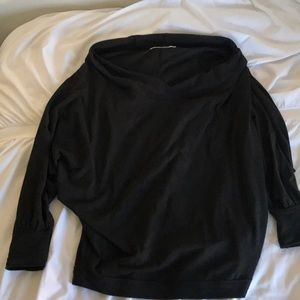 Free People | black lightweight sweater